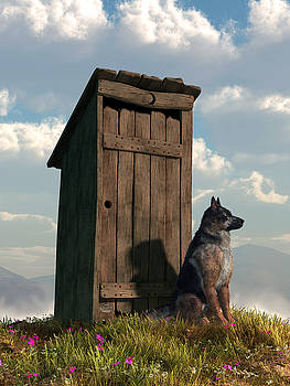 Daniel Eskridge - Outhouse Guardian - German Shepherd Version