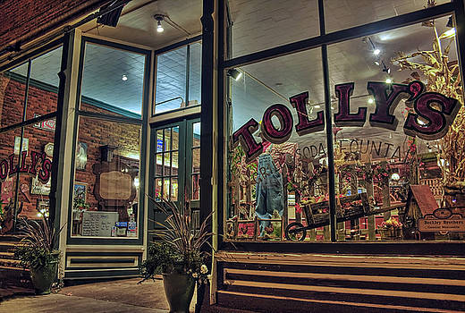 Outside Tolly's Grill And Soda Fountain by Tyra OBryant