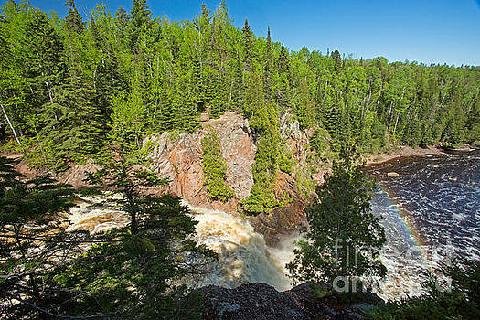 Over the High Falls at  Tettegouche State Park by Natural Focal Point Photography
