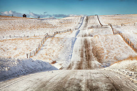 Over The Hill And Far Away Color by Theresa Tahara