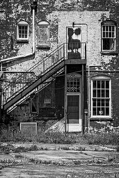 Over Under the Stairs - BW by Christopher Holmes