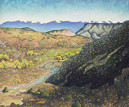 Overlooking The Rio Chama by Dale Beckman