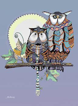 Owl Couple by Shane Guinn