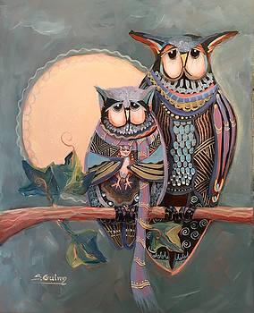 Owl Family by Shane Guinn