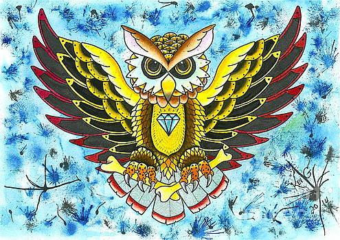 Owl in Blue by Kev G