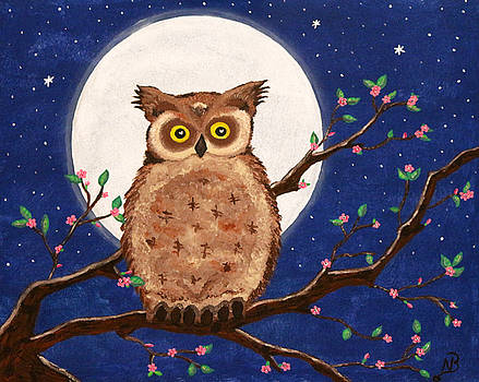 Owl in the Night by Nina Bradica