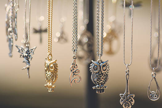 Owl Necklaces by Black Brook Photography