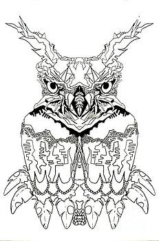 Owl Sketch 1 by Amy Sorrell