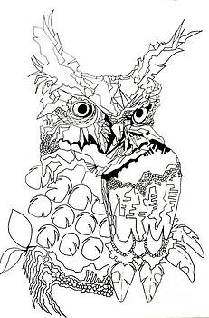Owl Sketch 3 by Amy Sorrell