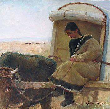 Ox Cart by Ji-qun Chen