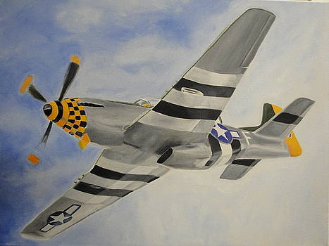 P-51 in the clouds by James Lopez
