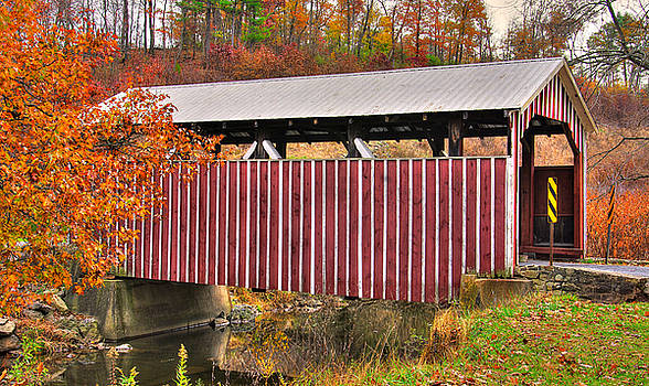 PA Country Roads - Himmel's Church Covered Bridge Over Schwaben Creek No. 2 - Northumberland County by Michael Mazaika