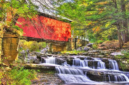 PA Country Roads - Pack Saddle / Doc Miller Covered Bridge Over Brush Creek No. 11 - Somerset County by Michael Mazaika