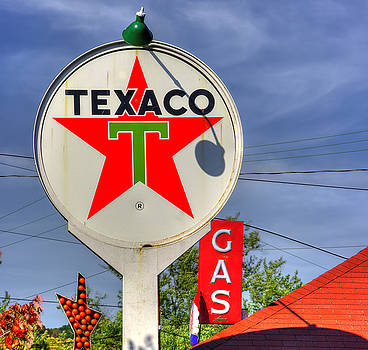 PA Country Roads - Petroasis at the Big Bright Star #5 Close - Cruiser's Cafe - Mt. Pleasant Mills by Michael Mazaika