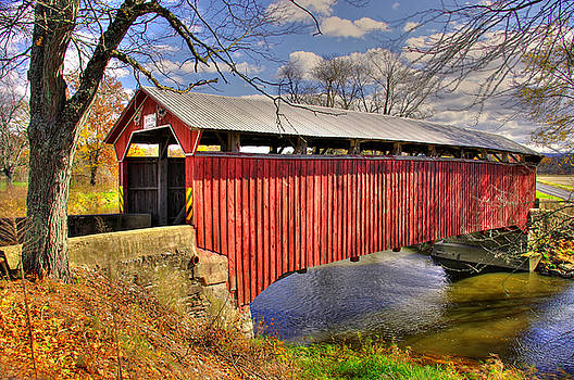 PA Country Roads - Sam Wagner Covered Bridge Chillisquaque Creek #8 Northumberland Montour Counties by Michael Mazaika