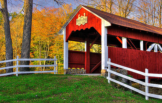 PA Country Roads - Trostletown Covered Bridge Over Stony Creek No. 5 - Somerset County by Michael Mazaika