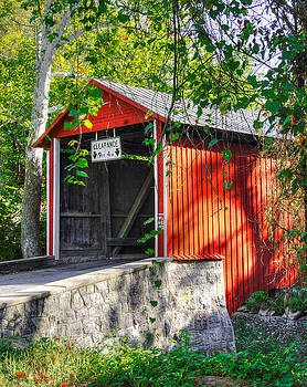 PA Country Roads - Witherspoon Covered Bridge Over Licking Creek No. 3 - Franklin County by Michael Mazaika