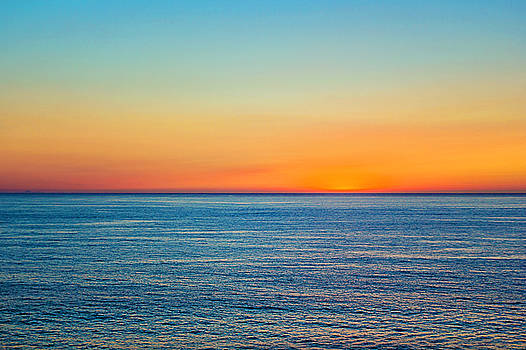 Pacific Ocean Sunset by April Reppucci