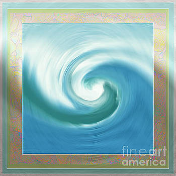 Pacific Swirl with border by Shelley Myers
