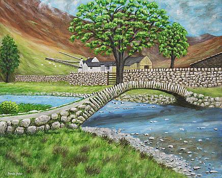 Pack Horse Bridge - Wasdale Lake District by Ronald Haber