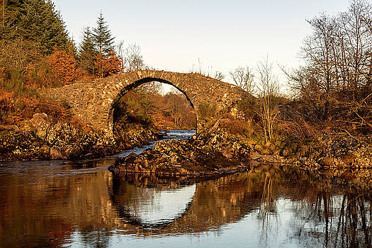 Packhorse Bridge Over The River Minnoch by Derek Beattie