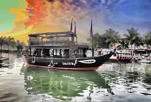 Chuck Kuhn - Paint Digital Boat Hoi An