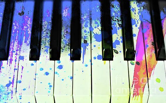 Paint Splashed Keyboard by Elaine Manley
