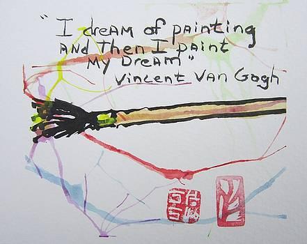 Paintbrush Etegami by Marita McVeigh