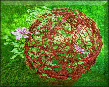 Painted Barbed Wire Ball by LeeAnn McLaneGoetz McLaneGoetzStudioLLCcom