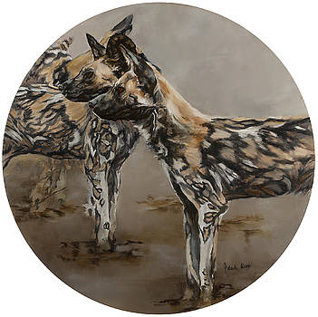 Painted Dogs by Jolante Hesse