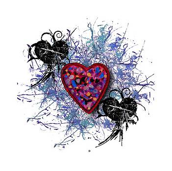Painted Heart 3 by Christine Perry
