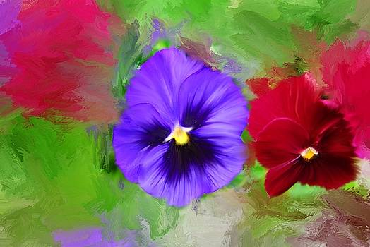 Painted Pansies by Mary Timman