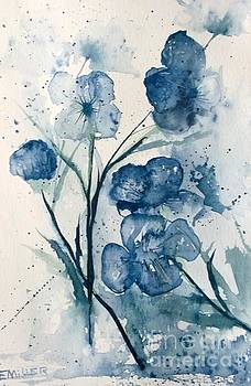 Painterly  Blues by Eunice Miller