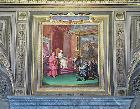 Painting At The Vatican by Dave Mills