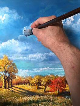 Painting the landscape by Randy Burns