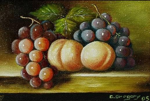 Pair of peachs by Gene Gregory