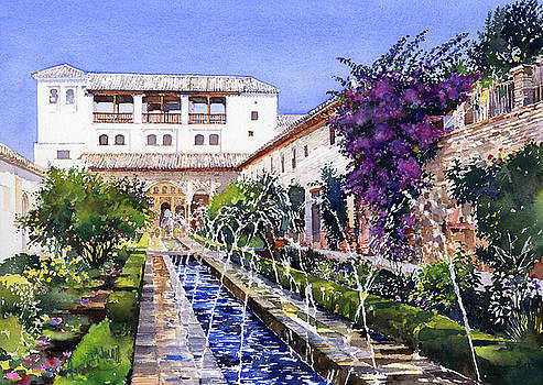 Palacio de Generalife Granada by Margaret Merry