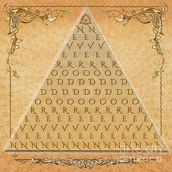 Palindrome Pyramid V1-Decorative by Bedros Awak