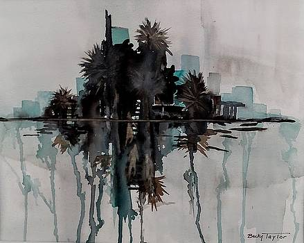 Palm City Abstract Reflections by Becky Taylor