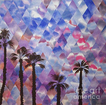 Palm Springs Sunset by Jeni Bate