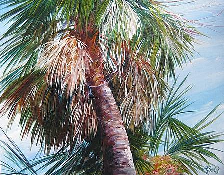 Palmetto in Acrylics by Gloria Turner