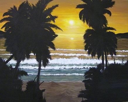 Palms in Silouhette by Linda Bennett