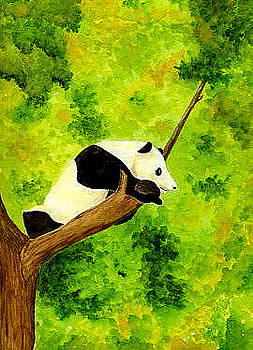 Panda in a Tree by Michael Vigliotti