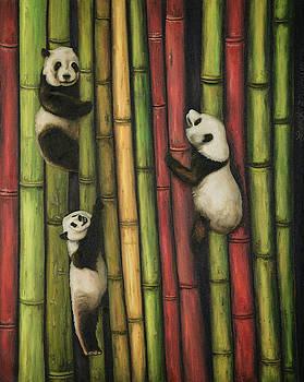 Pandas Climbing Bamboo by Leah Saulnier The Painting Maniac