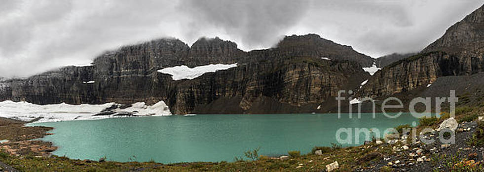 Panorama of Grinnell Glacier in Glacier National Park by Brandon Alms