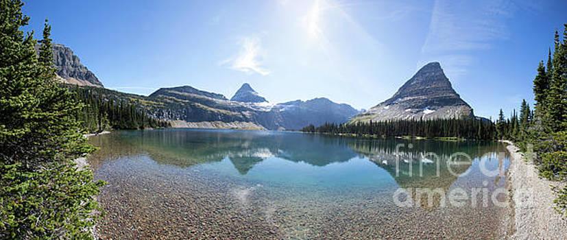 Panorama of Hidden Lake in Glacier National Park by Brandon Alms