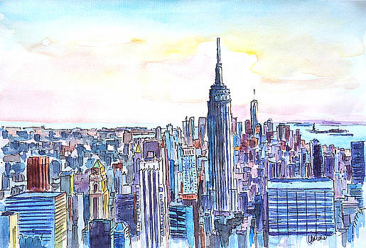 Panorama of Manhattan Skyline with Brooklyn by M Bleichner