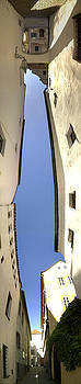 Panoramic Buildings Distortion Artwork by Jeff Schomay