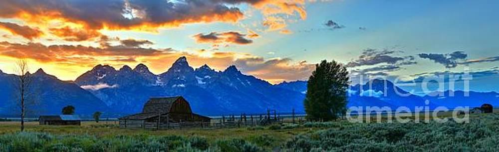 Adam Jewell - Panoramic Mormon Row Sunset