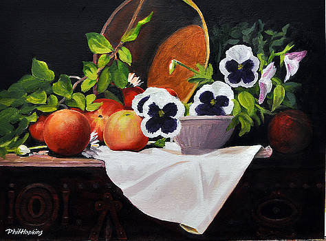 Pansies and Peaches by Phil Hopkins